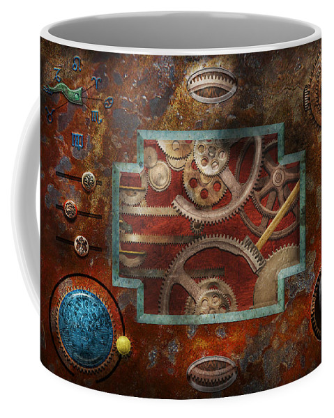 Hdr Coffee Mug featuring the photograph Steampunk - Pandora's Box by Mike Savad