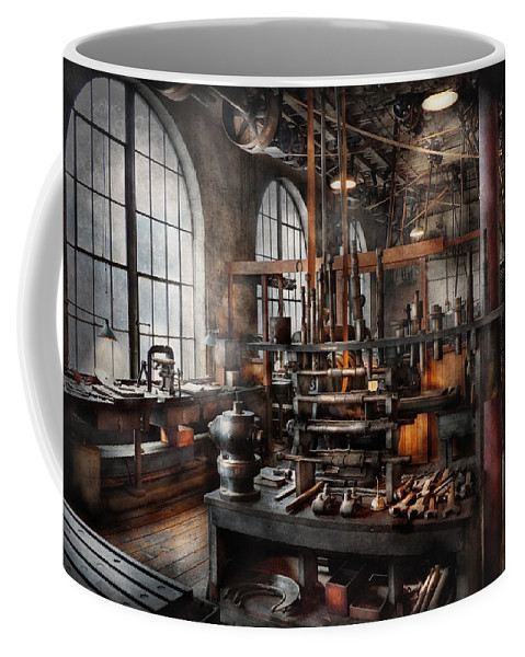 Steampunk Coffee Mug featuring the photograph Steampunk - Room - Steampunk Studio by Mike Savad