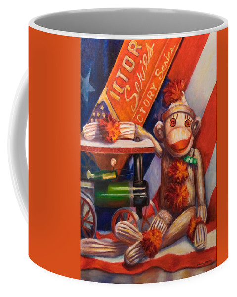 4th Of July Coffee Mug featuring the painting Victory by Shannon Grissom