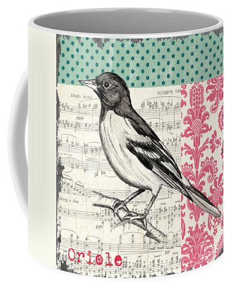 Bird Coffee Mug featuring the painting Vintage Songbird 2 by Debbie DeWitt