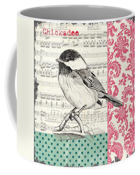 Bird Coffee Mug featuring the painting Vintage Songbird 3 by Debbie DeWitt