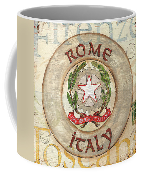 Rome Coffee Mug featuring the painting Italian Coat Of Arms by Debbie DeWitt