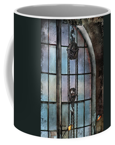 Hdr Coffee Mug featuring the photograph Steampunk - Gear - Importance Of Industry by Mike Savad