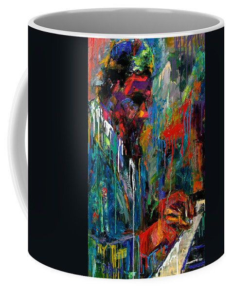 Painting Coffee Mug featuring the painting Round Midnight by Debra Hurd