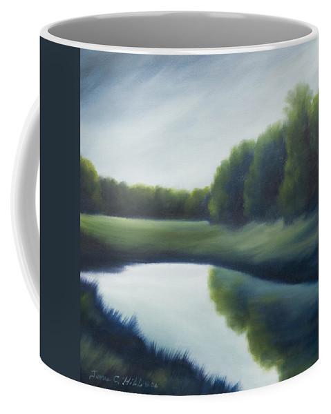 Clouds Coffee Mug featuring the painting A Day In The Life 2 by James Christopher Hill