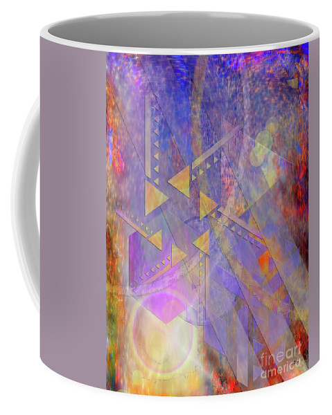Aurora Aperture Coffee Mug featuring the digital art Aurora Aperture by John Robert Beck