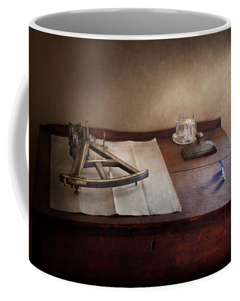 Suburbanscenes Coffee Mug featuring the photograph Boat - The Joy Of Sextant by Mike Savad