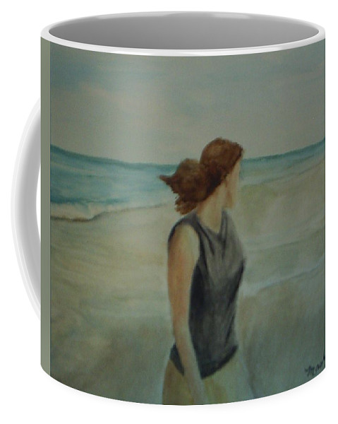 Ocean Coffee Mug featuring the painting By The Sea by Sheila Mashaw