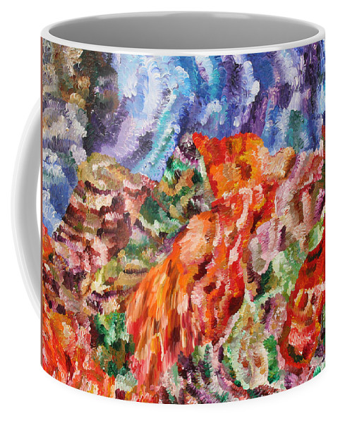 Fusionart Coffee Mug featuring the painting Flock by Ralph White