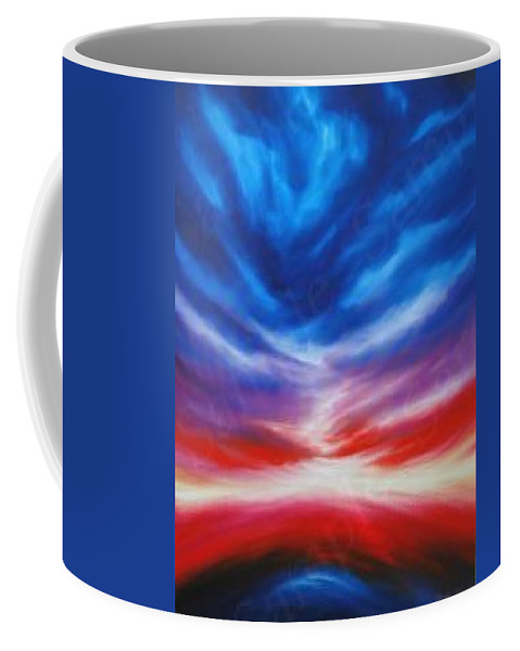 Tempest Coffee Mug featuring the painting Genesis IIi by James Christopher Hill