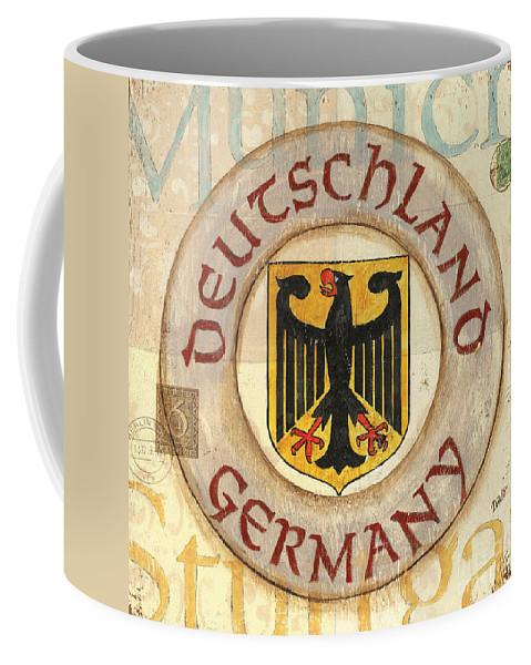 Germany Coffee Mug featuring the painting German Coat Of Arms by Debbie DeWitt