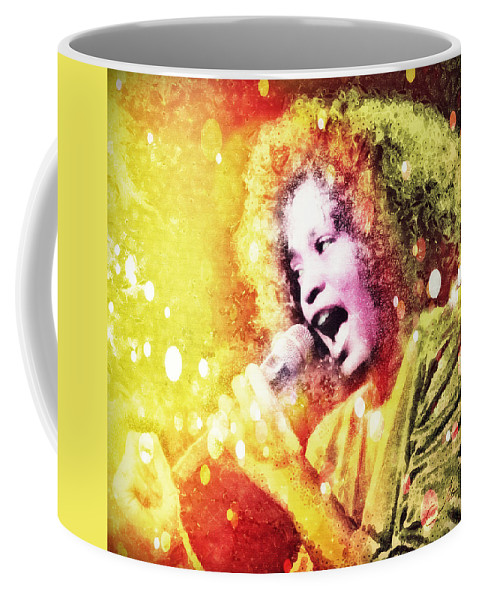 Whitney Houston Coffee Mug featuring the digital art I Will Always Love You by Mo T