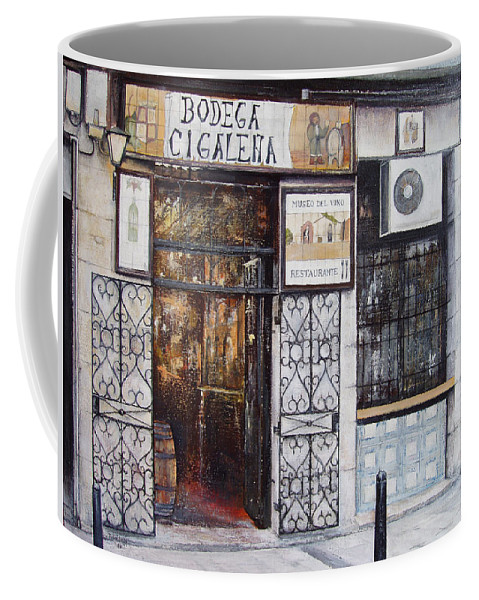 Bodega Coffee Mug featuring the painting La Cigalena Old Restaurant by Tomas Castano