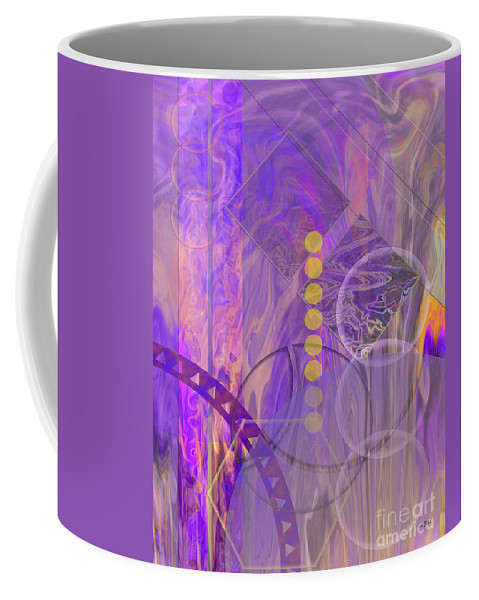Lunar Impressions 3 Coffee Mug featuring the digital art Lunar Impressions 3 by John Robert Beck