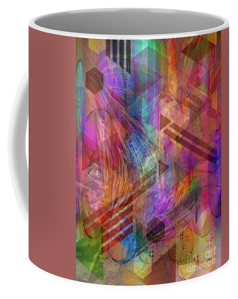 Magnetic Abstraction Coffee Mug featuring the digital art Magnetic Abstraction by John Robert Beck