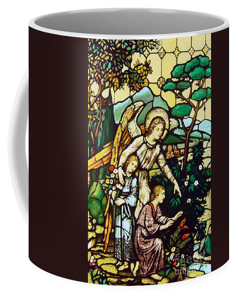 Coffee Mug featuring the painting My Angel by Jose Manuel Abraham