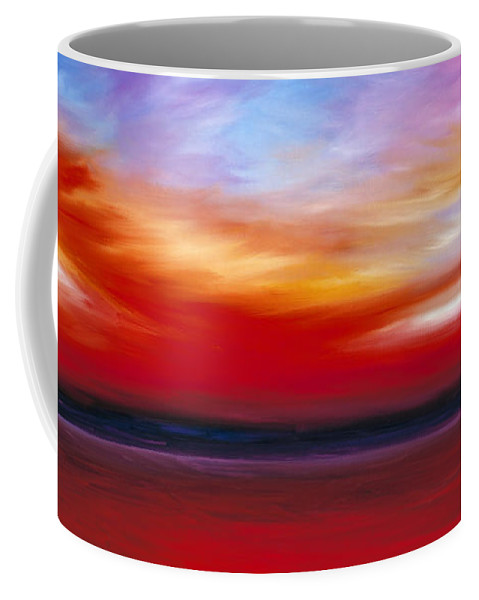Clouds Coffee Mug featuring the painting October Sky by James Christopher Hill