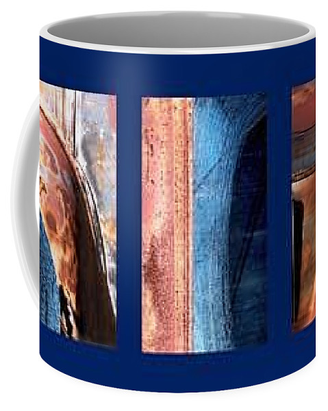 Abstract Coffee Mug featuring the photograph Ole Bill by Steve Karol