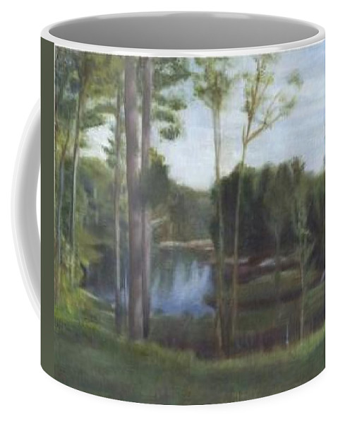 Landscape Coffee Mug featuring the painting Once by Sheila Mashaw