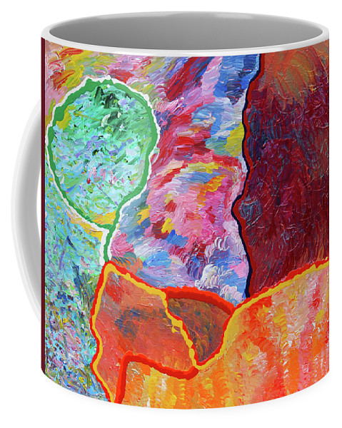 Fusionart Coffee Mug featuring the painting Puzzle by Ralph White