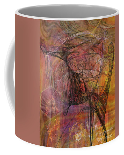 Shadow Dragon Coffee Mug featuring the digital art Shadow Dragon by John Robert Beck