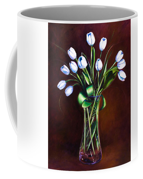 Shannon Grissom Coffee Mug featuring the painting Simply Tulips by Shannon Grissom