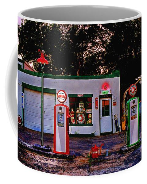 Gas Station Coffee Mug featuring the photograph Sinclair by Steve Karol
