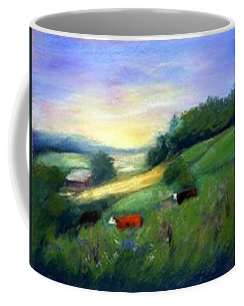 Landscape Coffee Mug featuring the painting Southern Ohio Farm by Gail Kirtz