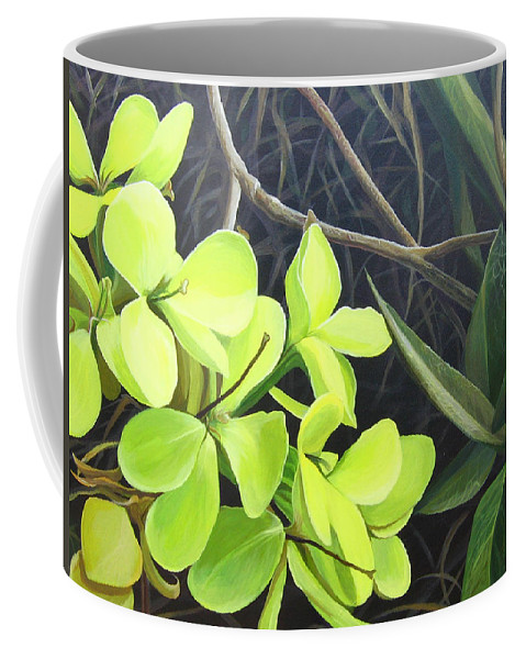 Wildflower Coffee Mug featuring the painting Stolen Moments by Hunter Jay