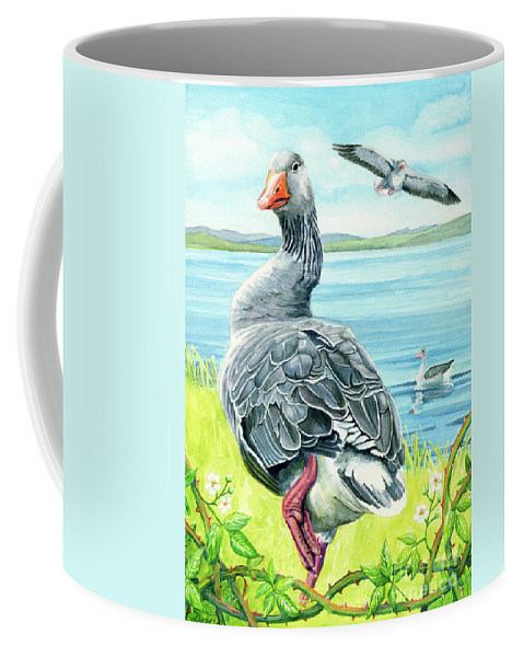 Celts Coffee Mug featuring the painting The Goose by Antony Galbraith