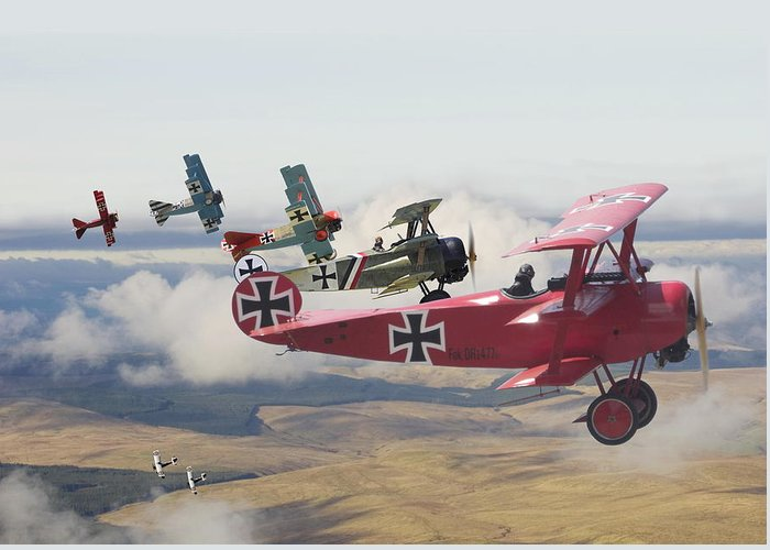 Aircraft Greeting Card featuring the digital art Circus Comes To Town by Pat Speirs