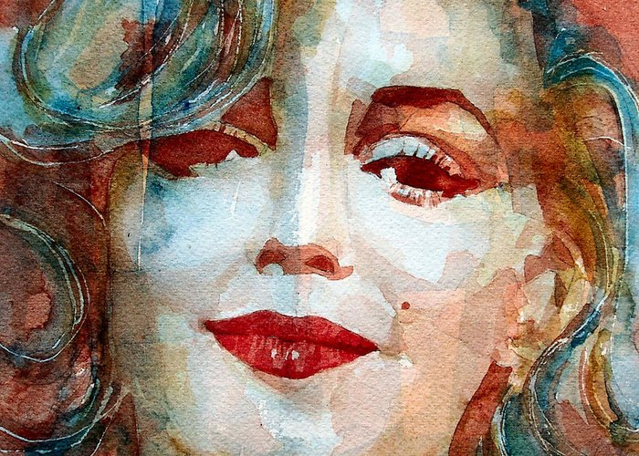 Marilyn Monroe Greeting Card featuring the painting Marilyn  by Paul Lovering