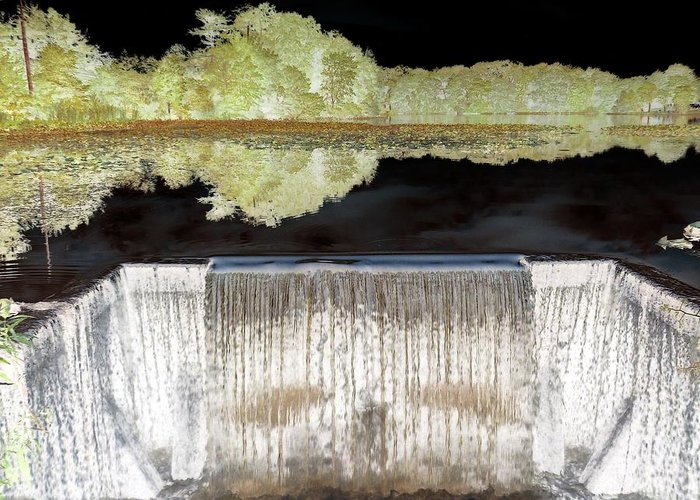 Waterfall Greeting Card featuring the photograph Waterfall 1 by Dietrich ralph Katz