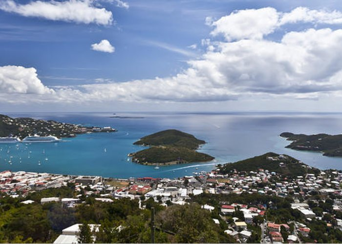 St. Greeting Card featuring the photograph 0457 St Thomas Us Virgin Islands by Steve Sturgill