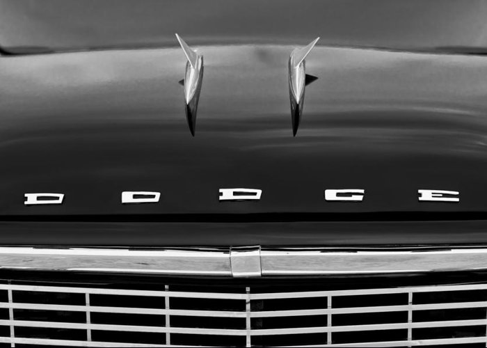 1958 Dodge Coronet Super D-500 Convertible Hood Ornament Greeting Card featuring the photograph 1958 Dodge Coronet Super D-500 Convertible Hood Ornament by Jill Reger