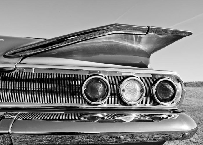 1960 Chevrolet Impala Resto Rod Taillight Greeting Card featuring the photograph 1960 Chevrolet Impala Resto Rod Taillight by Jill Reger