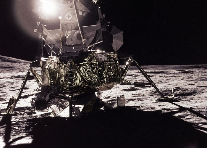 Transport Greeting Card featuring the photograph Apollo 17 Moon Landing by Science Source