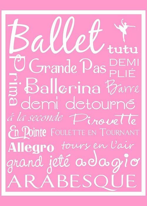 Children Greeting Card featuring the digital art Ballet Subway Art by Jaime Friedman