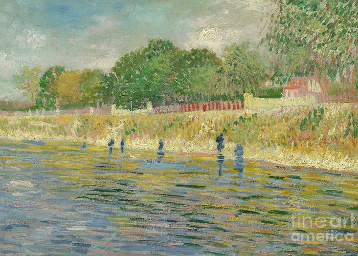 Bank Of The Seine Greeting Card featuring the painting Bank Of The Seine by Vincent van Gogh