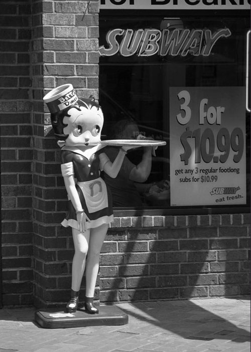 1930's Greeting Card featuring the photograph Betty Boop 1 by Frank Romeo