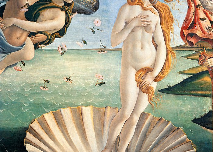 Painting Greeting Card featuring the painting Birth Of Venus by Sandro Botticelli
