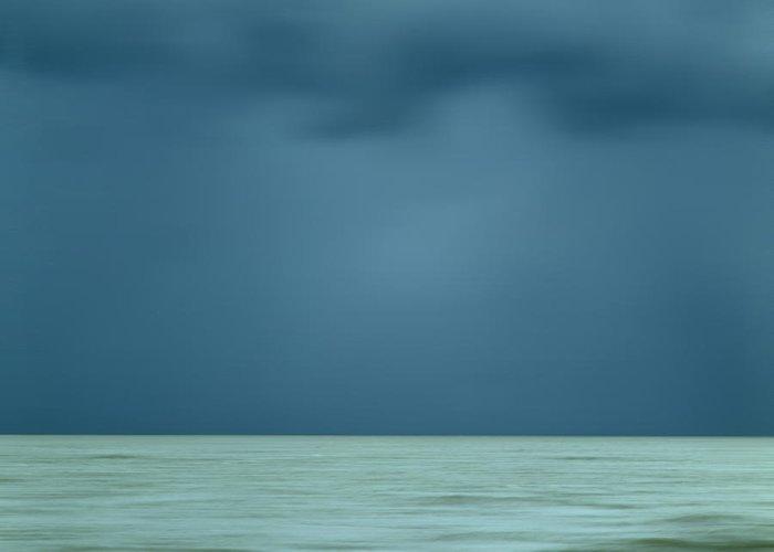 Outdoors Greeting Card featuring the photograph Blue Sea by Bernard Jaubert