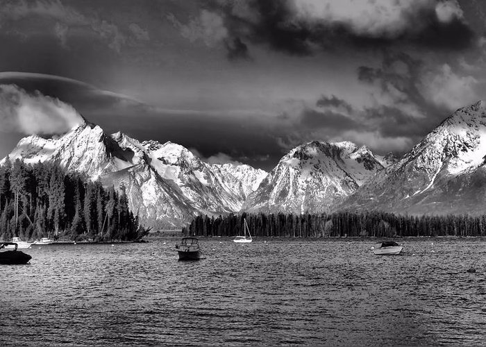 Landscape Greeting Card featuring the photograph Boating by Dan Sproul