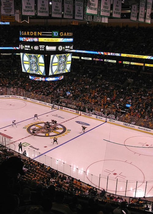 Boston Greeting Card featuring the photograph Boston Bruins by Juergen Roth