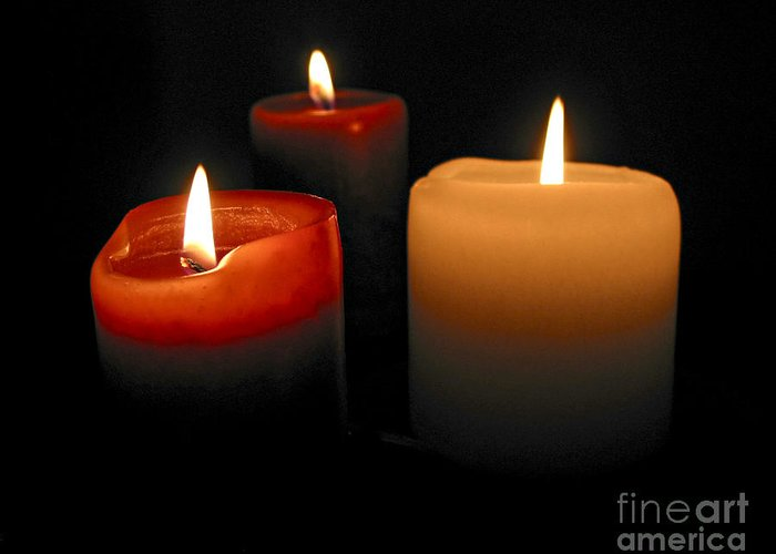 Candle Greeting Card featuring the photograph Burning Candles by Elena Elisseeva