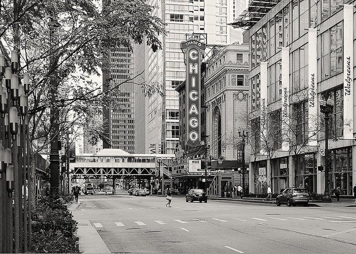 Chicago Greeting Card featuring the photograph Chicago Theatre - French Baroque Out Of A Movie by Christine Till