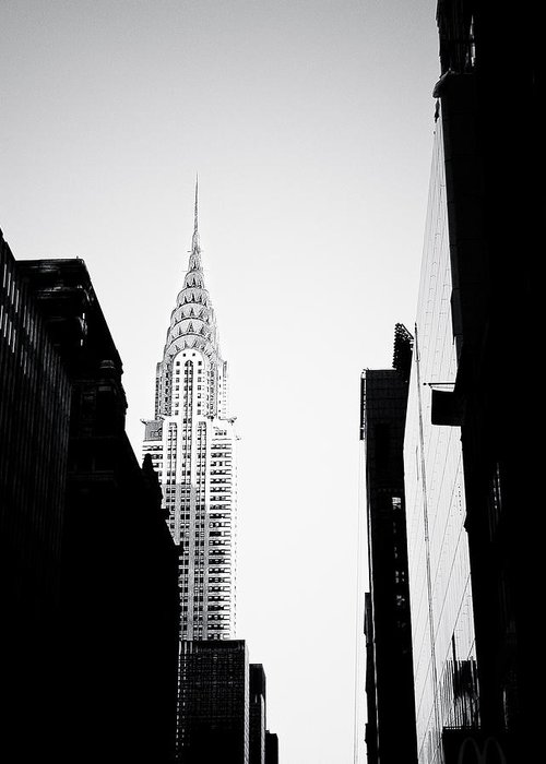 Adjectives Greeting Card featuring the photograph Chrysler Building by Jamie Starling