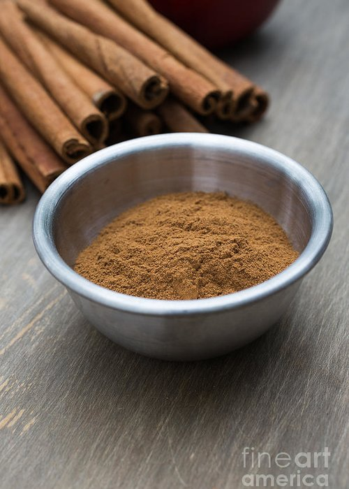 Food Greeting Card featuring the photograph Cinnamon Spice by Edward Fielding