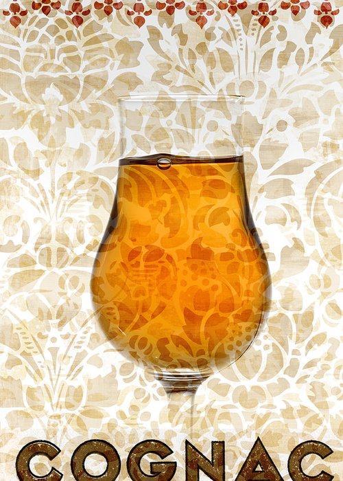 Cognac Greeting Card featuring the mixed media Cognac by Frank Tschakert
