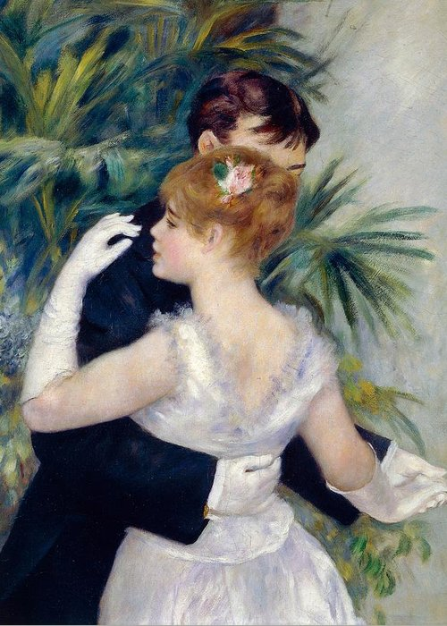 Art Greeting Card featuring the painting Dance In The City by Pierre-Auguste Renoir